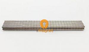 N45 NdFeB Disc Magnet D3mm*3.5mm Coating: Nickel
