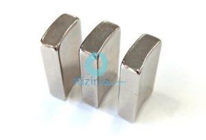 N35SH NdFeB Arc Magnet R38xR31x16.5mmx30mmx7mm