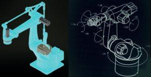 Permanent magnet servo motor for key parts of industrial robot