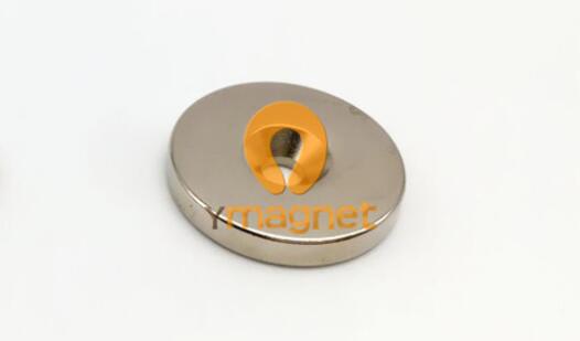 n35 ndfeb disc countersunk magnet d25mm 4mm 4 5mm 1 - N35 NdFeB Disc Countersunk Magnet D25mm*4mm-4.5mm