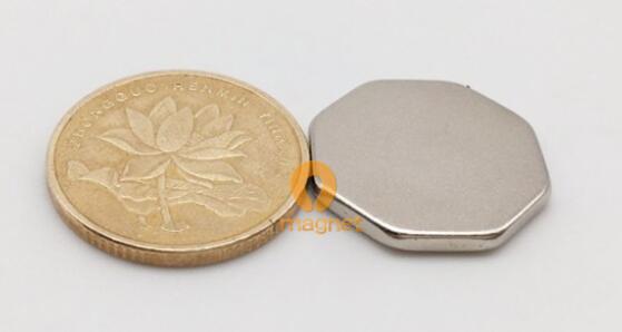 n35 ndfeb octagonal magnet r7 7mm 2mm 1 - N35 NdFeB Octagonal Magnet R7.7mm*2mm