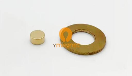 n42 ndfeb disc magnet d6 4mm 3 2mm gold 1 - N42 NdFeB Disc Magnet D6.4mm*3.2mm Gold