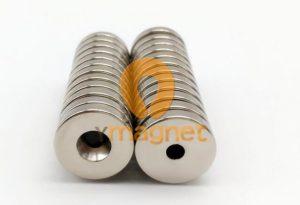 N52 NdFeB Disc Countersunk Magnet D15.9mm*3.17mm-3.55mm