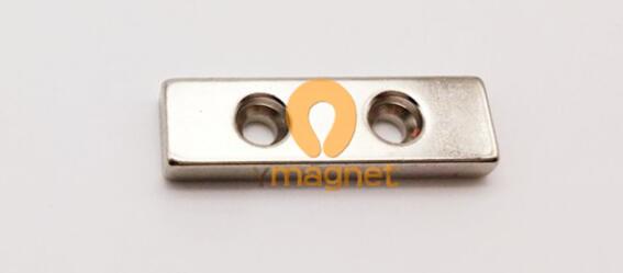 n52 ndfeb disc countersunk magnet d40 12mm 5mm 4mm 1 - N35 NdFeB Block Double Countersunk Magnet F40mm*12mm*5mm-4mm