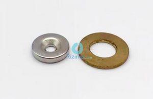 N35 NdFeB Disc Countersunk Magnet D15mm*3mm-4mm