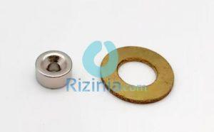 N35 NdFeB Disc Countersunk Magnet D10mm*5mm-3.5mm
