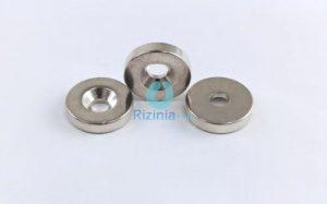 N35 NdFeB Disc Countersunk Magnet D14mm*4mm-3mm