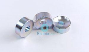 N35 NdFeB Disc Countersunk Magnet D27mm*10mm-10mm