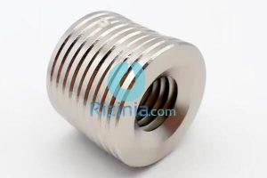 N35 NdFeB Disc Countersunk Magnet D36mm*3mm-26mm