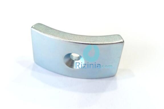 n35h ndfeb arc countersunk magnet r45xr39x60x25mmx6mm 3 - N35H NdFeB Arc Countersunk Magnet R45xR39x60°x25mmx6mm