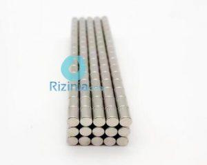 N48 NdFeB Rod Magnet D4.76mm*6.35mm