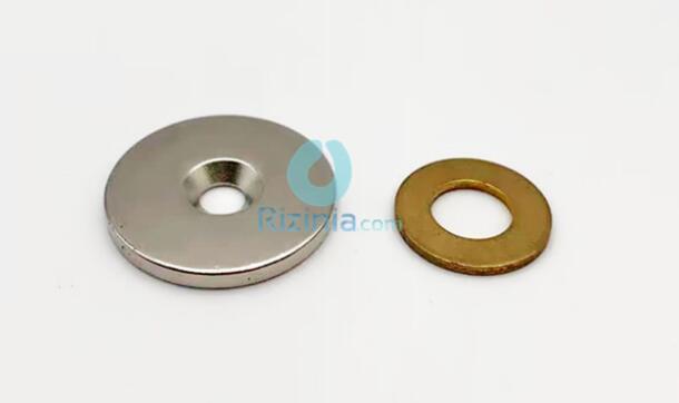 n35 ndfeb disc countersunk magnet d30mm3mm 10mm 1 - N35 NdFeB Disc Countersunk Magnet D30mm*3mm-10mm