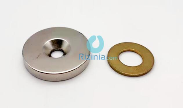 n35 ndfeb disc countersunk magnet d30mm5mm 10mm 1 - N35 NdFeB Disc Countersunk Magnet D30mm*5mm-10mm
