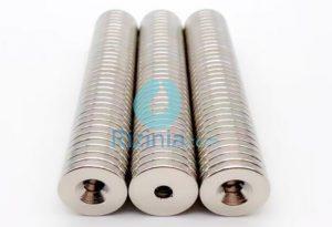 N35 NdFeB Disc Countersunk Magnet D20mm*3mm-10mm