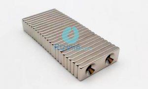 N52 NdFeB Block Double Countersunk Magnet F30mm*10mm*3mm